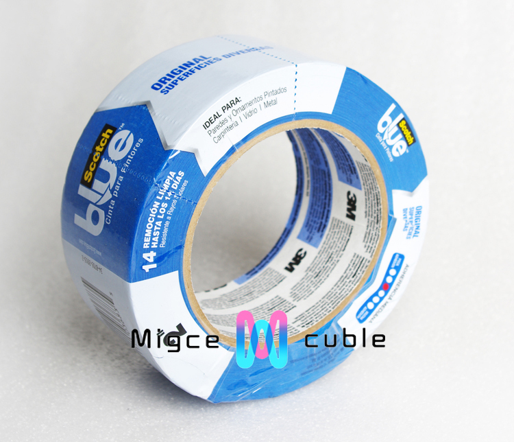 3 D printer consumable supply original superficies diverse Replicator/Reprap Blue tape 50.8mm*54.8m thickness 0.13mm