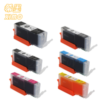 XIMO 6 PK IGP-550PGBK CLI-551 BK C M Y GY Conjunto De Tinta para Canon Pixma iP 7250, Pixma MG5450, Pixma MX925, lascado e com tinta corante