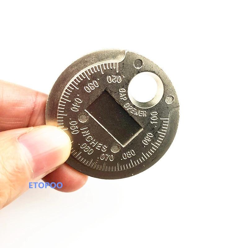 1pc Spark plug gap measurement Coin type spark plug gauge 0.6-2.4MM