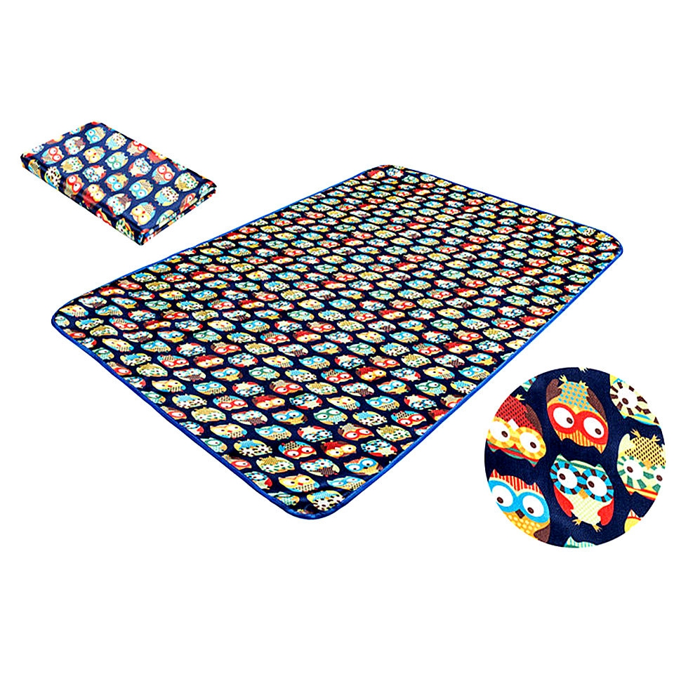 Latest Child Outdoor Picnic Mat Satin PVC Waterproof Blanket Baby Play Puzzles Crawl Carpet Kids Rug Toddler Learn to Walk Mat