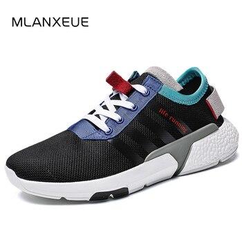 MLANXEUE Fashion Breathable Men Sneakers Shoes Men Lace Up Casual Men Shoes 2018 Autumn Winter Non-slip Male Shoes Black Shoe Сникеры
