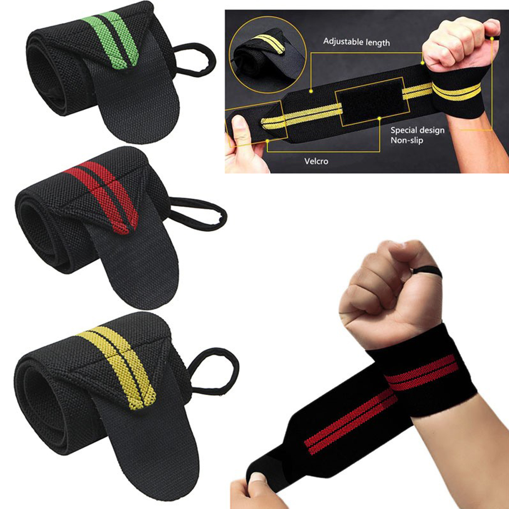 High quality 1 piece Weight Lifting Strap Fitness Gym Sport Wrist Wrap Bandage Hand Support Wristband dropshipping wholesale ...