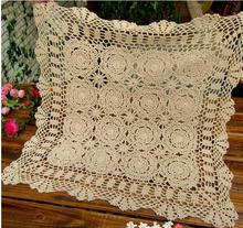 Handmade crocheted Tablecloth for table Cover Crochet Doilies Mat Pads Vintage Coaster Table cloth for Wedding supplies