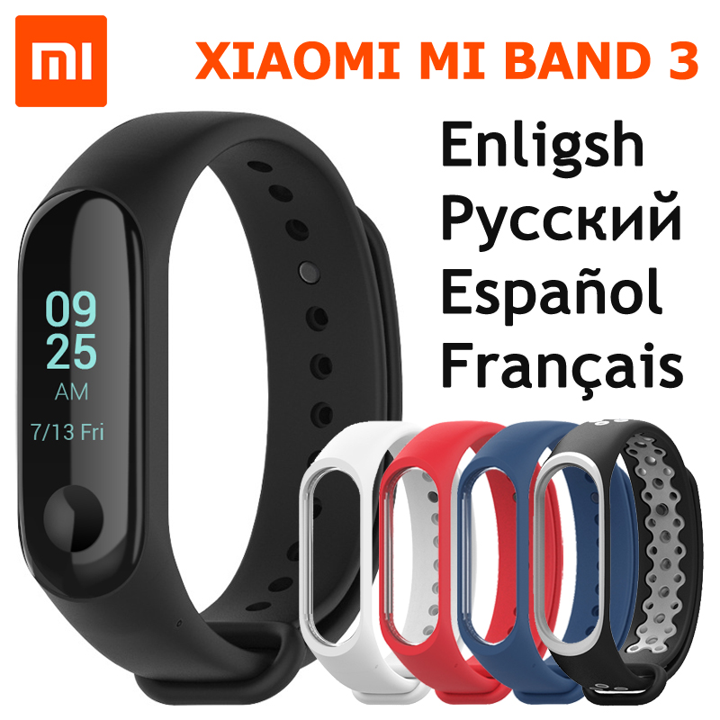 Xiaomi Mi Band 3 Smart Bracelet Miband 3 OLED Touch Screen 0.78″ Message Display Weather Forecast Fitness Tracker Xiaomi Band 3