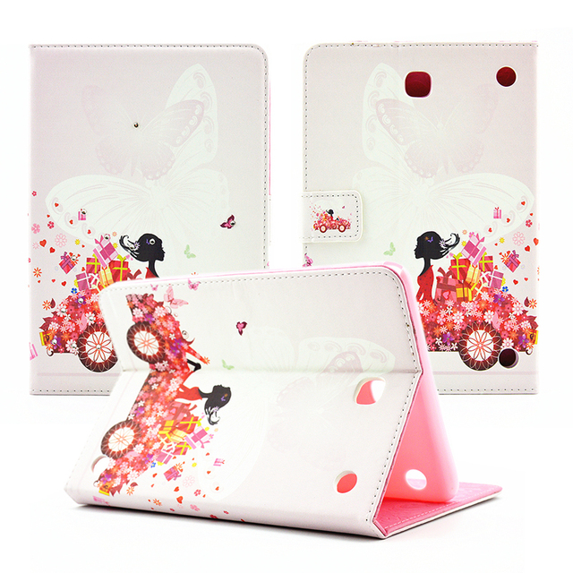 girl diamond crystal flip pu leather case cover for tablets for