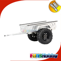MHPC 1:10 Scaled Car Flatbed Trailer for Crawler/SCX10/ CC01/ F350/ Hilux/ 90034/ RC4WD /D90 Cod.FH31000