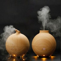 600ml Diffuser Diffuser Essential Oil Ultrasonic Aroma Humidifier Woodgrain Aromatherapy Air Purifier Mist Maker S0D39 T16