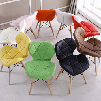 Bright Color Ergonomic Wooden Leisure Dinning Chair  1