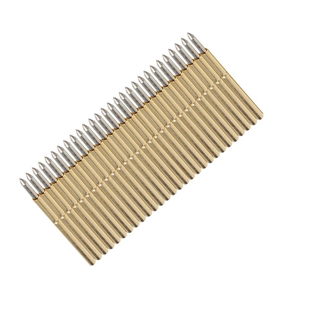 100pcs P50-J1/P50-B1/P75-B1/P75-E2/P100-E2 Spring Test Probe Round Pogo Pin 3A