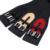 Negro Correa de Cuero Genuina Para Las Mujeres Smooth Pintura Elástica Ancha Hebilla Del Zurriago de la Mujer Cinturones De Cuero