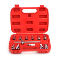 12Pcs Car Oil Drain Plug Remover Wrench Anti Scald Disassembly Tool Oil Drain Plug Key Set Hexagon Socket Kit Nut Adaptor Car