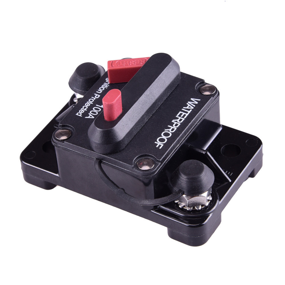 12V Inline Auto Boat Waterproof Circuit Breaker Protection 100 AMP Fuse  Manual Reset Switch Marine 2016-in Car Switches & Relays from Automobiles  ...