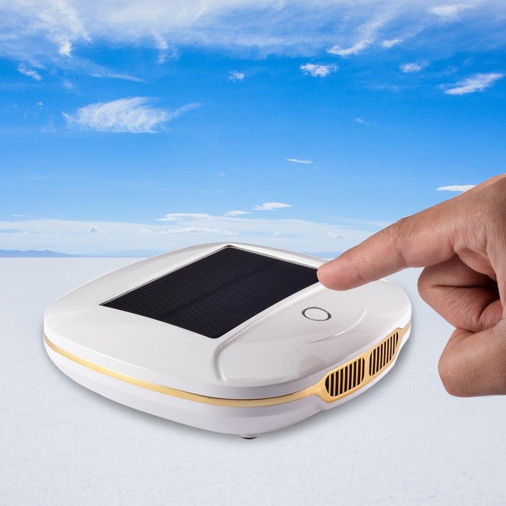 Más energía Solar coche purificador de aire de uso del coche ionizador de aire anión fresco PM2.5 OVNI forma No hay ruido de alta velocidad purificar