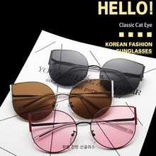 Cat Eye Women Sunglasses Brand Designer Mirror Flat Vintage Cateye Sun Glasses Lady Eyewear For Female Shades UV400 Summer Style