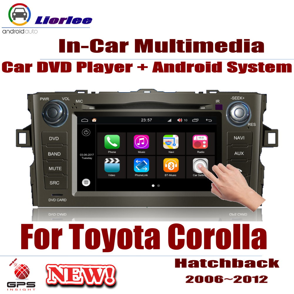 Car Android System RockChip PX5 1080P IPS LCD Screen For <font><b>Toyota</b></font> <font><b>Corolla</b></font> (<font><b>E150</b></font>) Hatchback 2006~2012 DVD Player GPS Navigation image