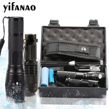 12000LM Gift T6 LED Flashlight Torch Kit L2 Zoomable Q5 Mini Lamp Penlight Tactical Flash Light Rechargeable With 18650 14500