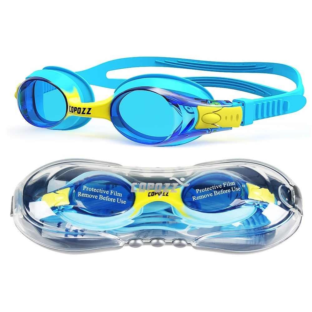 6d675194d09 Copozz Waterproof Anti Fog UV Child Professional Colored Lenses Diving Swimming  Glasses kids Eyewear Swim Goggles