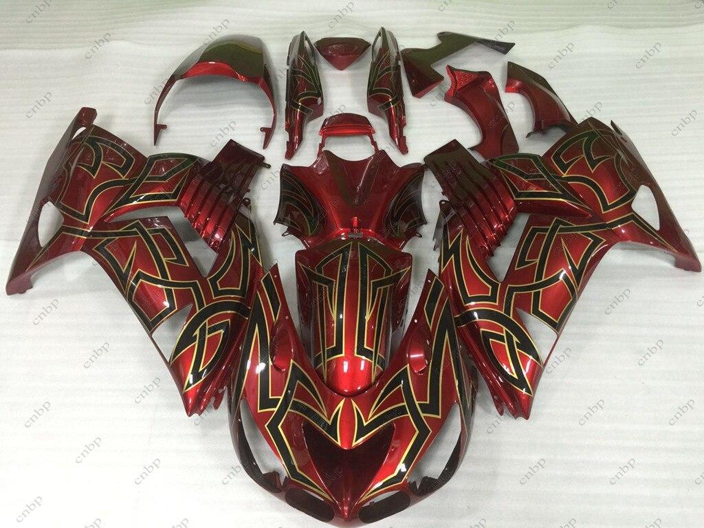 Full Body Kits ZZR 1400 10 11 Full Body Kits for Kawasaki Zx14r 2006 2006 - 2011 Red Black Fairing ZZR 1400 2010