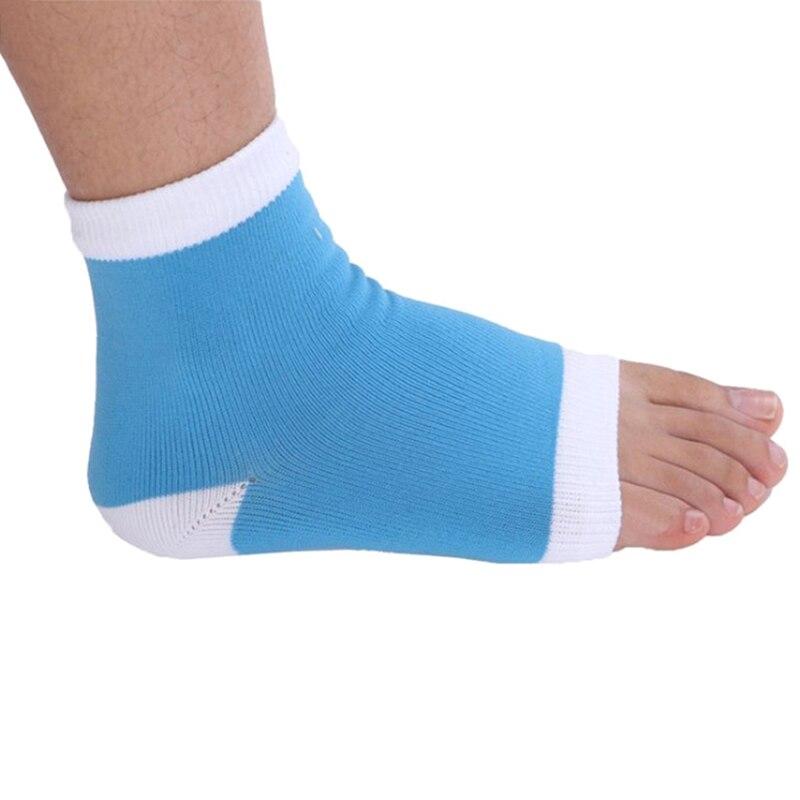 Schuhe 1 Para Rosa Behandlung Care Protektoren Socken Bluehot Glatte Fuß Pflege Pad Gel Ferse Socken Mode Fuß Haut Hell In Farbe