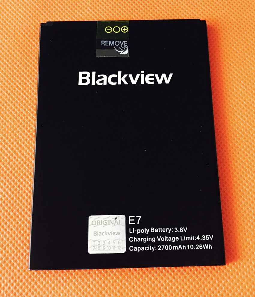 D'origine 2700 mAh Batterie Batterie Batterij Bateria pour Blackview E7 MTK6737 Quad Core 5.5 HD