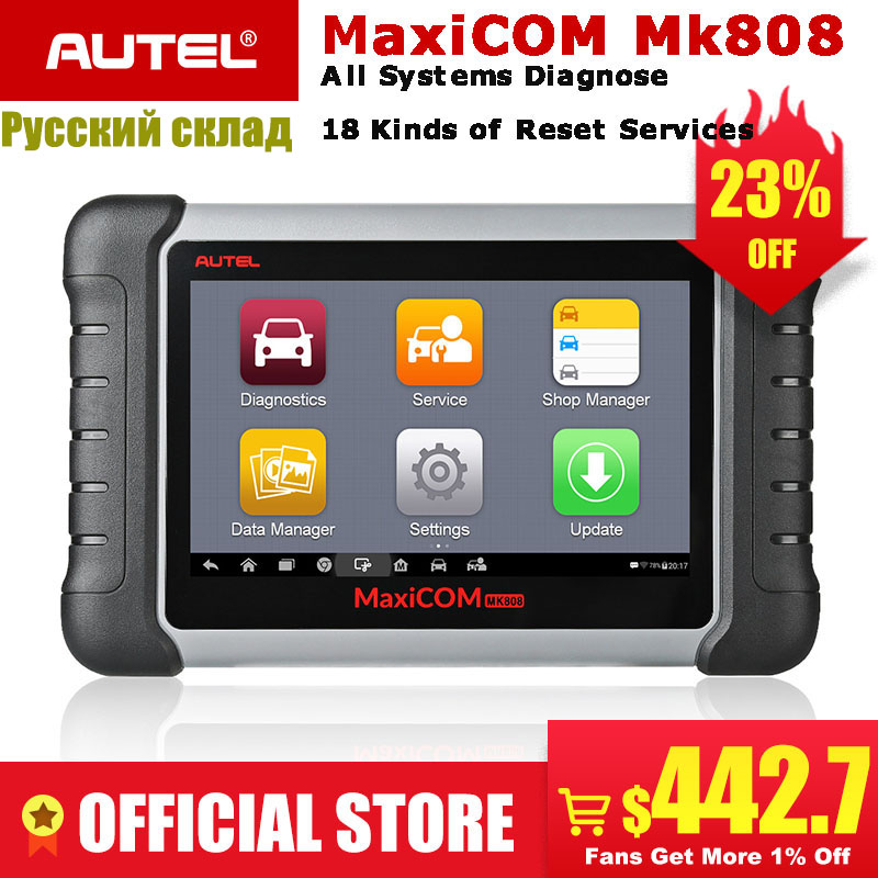 Autel MaxiCOM 2 MK808 OBD2 Ferramenta de Scanner de Diagnóstico Auto OBD Leitor de Código De Automóvel Testador ODB2 MX808 Imobilizador Programador Chave