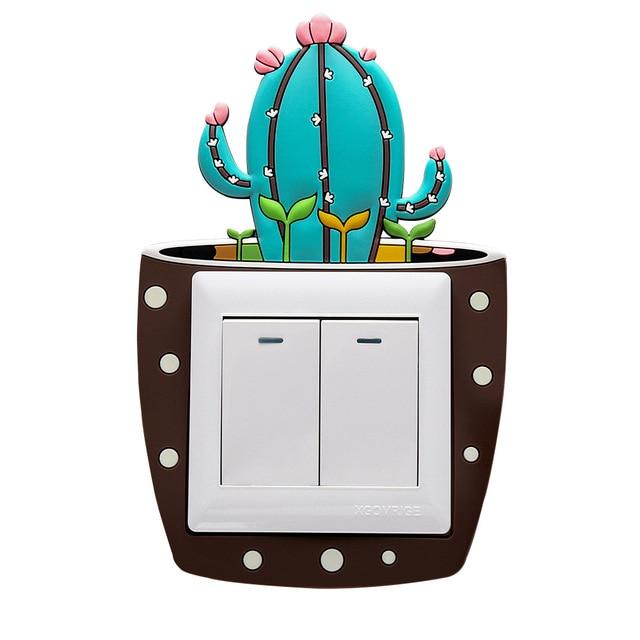 Luminous Cactus Switch Wall Stickers 8