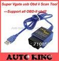 El mejor precio! envío gratis mini elm327 usb/mini elm 327 obd scan/ELM327/VGATE OBD SCAN PC interface USB/apoyar a todos obd2 OBD-II