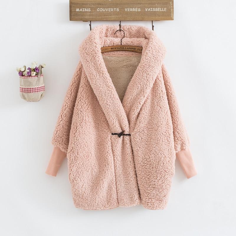 Kz434 D'agneau gray Jeans 2018 Chaud pink red Hiver En Laine xinage Veste Manteau coffee souris Épais Outwear Black Manches Chauve Femmes Surdimensionné wqqXOTZr