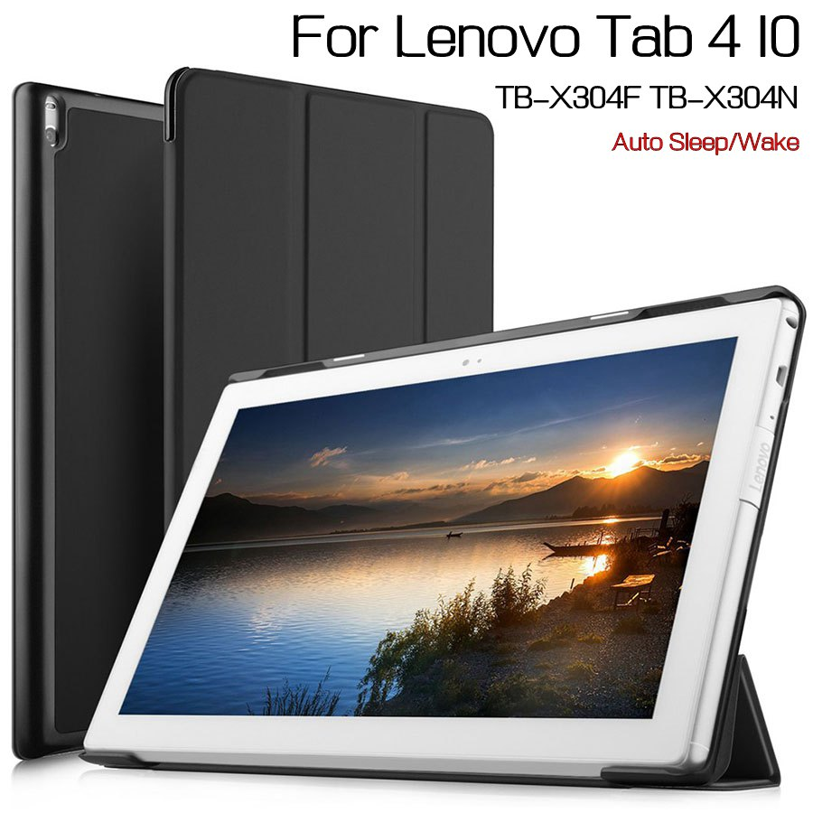 Magnetic Stand Smart PU Leather Cover Shell for Lenovo Tab 4 10 TB-X304F/X304N 10.1 Tablet Funda Case+Free Screen Protector+Pen free shipping new 10 1 original stand magnetic leather case cover for lenovo ibm thinkpad 10 tablet pc with sleep function