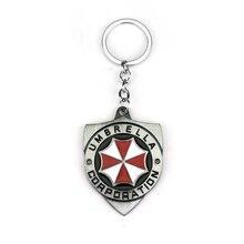 Resident Evil Umbrella Corporation Logo Metal Keychain