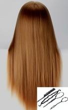 Cabezas de entrenamiento rubio para la venta Pelo del cabello Maniquíes para la peluquería Peluquería Maniquí Mujer Mujer Cabeza Cosmetología