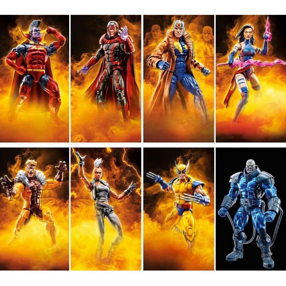 Marvel Legends 2018 Apocalypse BAF Wave X Men Magneto Wolverine Storm Sabretooth Multiple Psylocke Gladiator 6