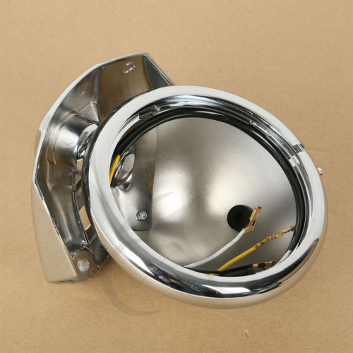 5.75 5-3/4 Chrome Headlight Housing Bucket For Harley Electra Glide Bad Boy 5 75 5 3 4 chrome headlight housing bucket for harley electra glide bad boy