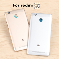 For Xiaomi Redmi 3X Official Original Housing Replacement Parts Metal Back Battery Cover Phone Case For