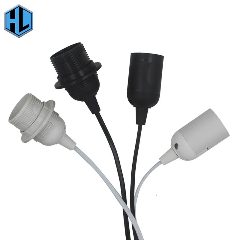 E27 Pendant Lamp Base Socket 1.8M Power Cord EU Plug 303 Button Switch For LED Table Lamp Hanging Bulb Lamp Holder
