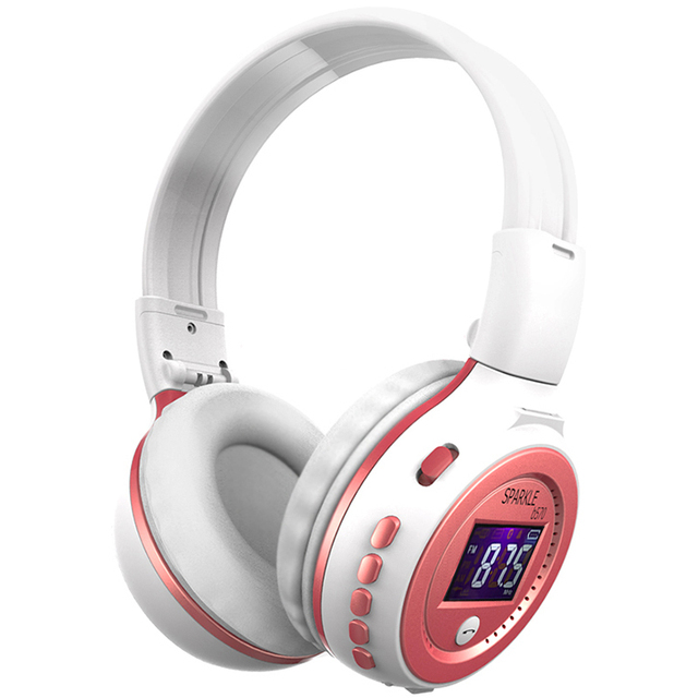 ZEALOT Wireless Bluetooth Headphone With Microphone & LCD Screen + FM Radio + Micro-SD Slot