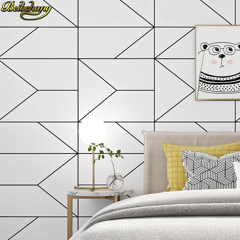 beibehang Modern Nordic geometry wall paper roll white wallpaper for living room decoration home mural wallpaper for walls 3 dbeibehang Modern Nordic geometry wall paper roll white wallpaper for living room decoration home mural wallpaper for walls 3 d