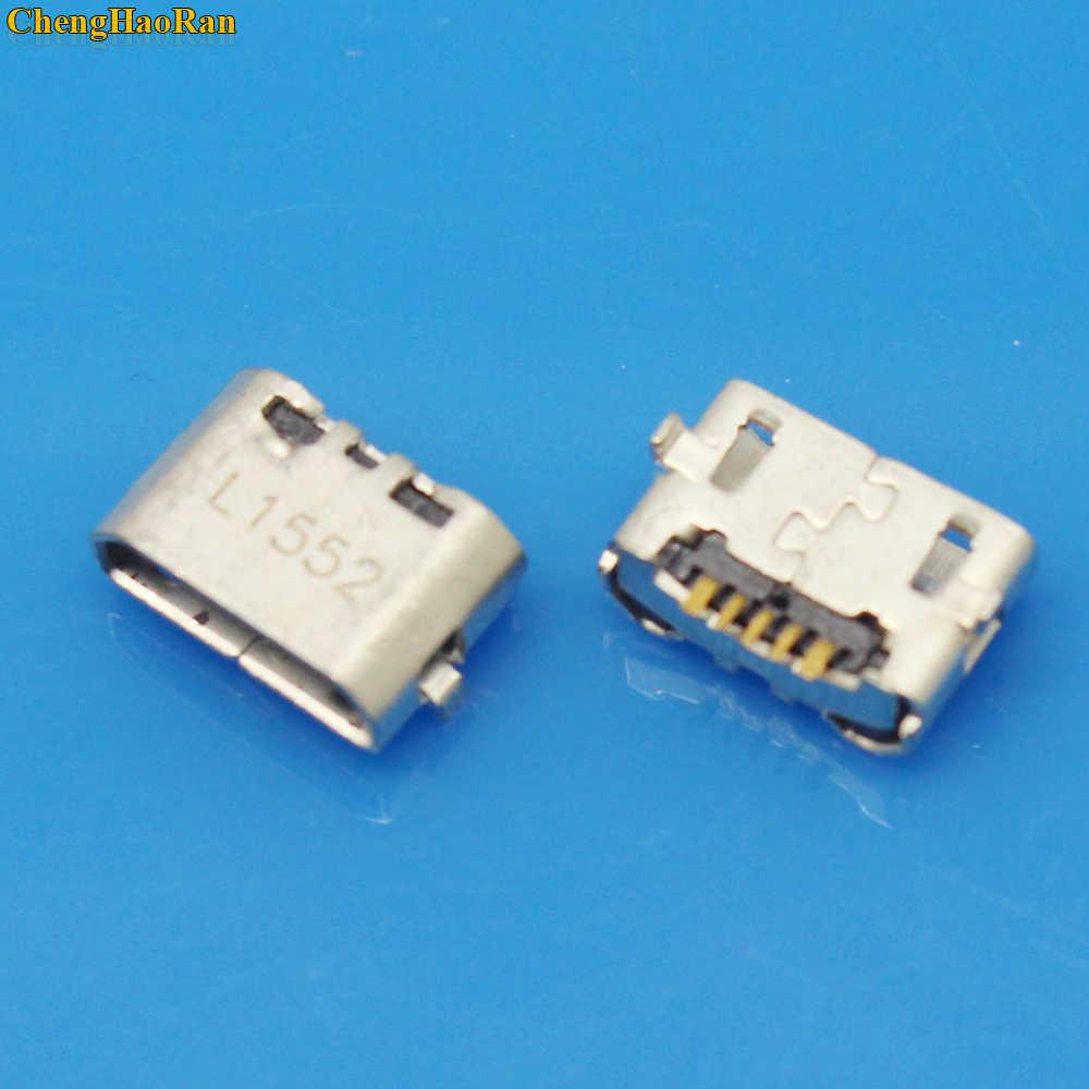 1X Micro USB 5pin Jack Reverse Ox Horn Port Pengisian Steker Soket Konektor Mini USB untuk Huawei 4X Y6 4A p8 C8817 Max Lite Pro