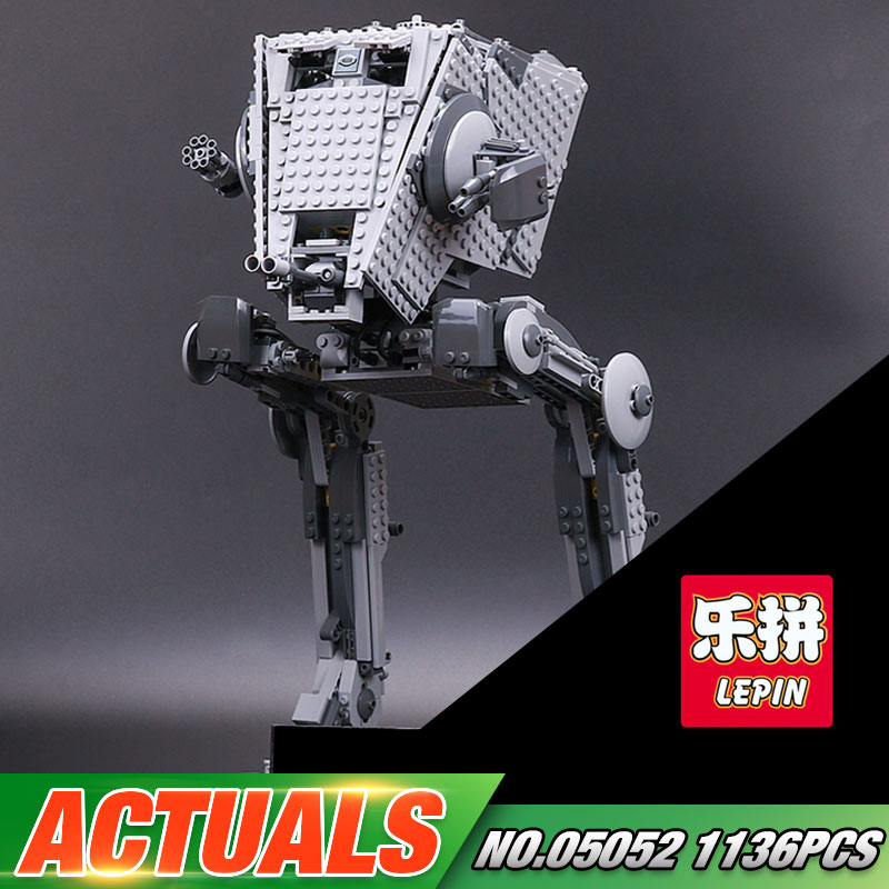 In Stock Lepin 05052 Star Series War 1136pcs Out of print 10174 AT Model ST Set Building Blocks Bricks Model Kid Toys Boys Gifts gonlei in stock 05052 1068pcs new star war series the empire at st robot building blocks bricks set toys 10174