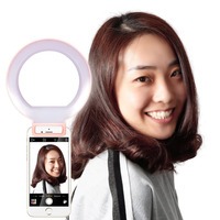 Neewer 5 12 5cm Dimmable Selfie Clip On Ring Light With 3 Level Brightness For IPhone