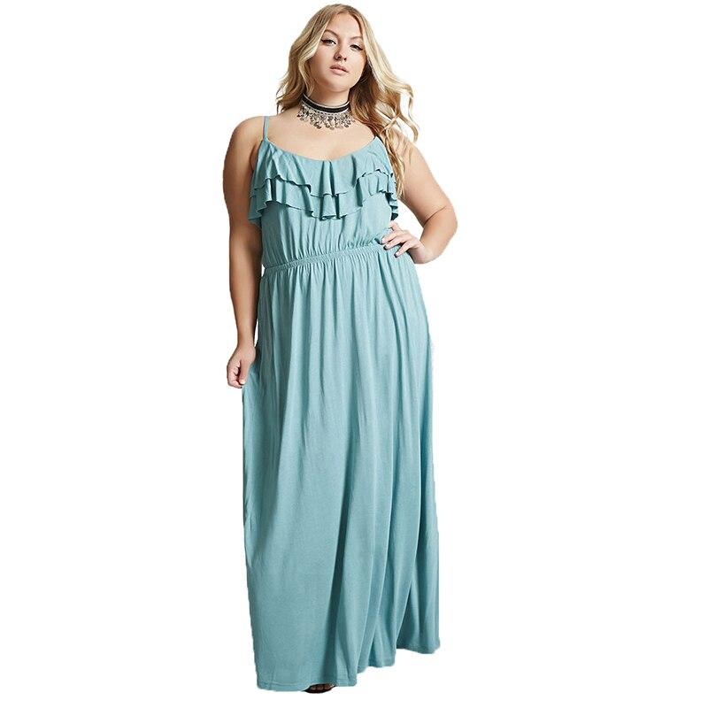 Платья макси размера плюс