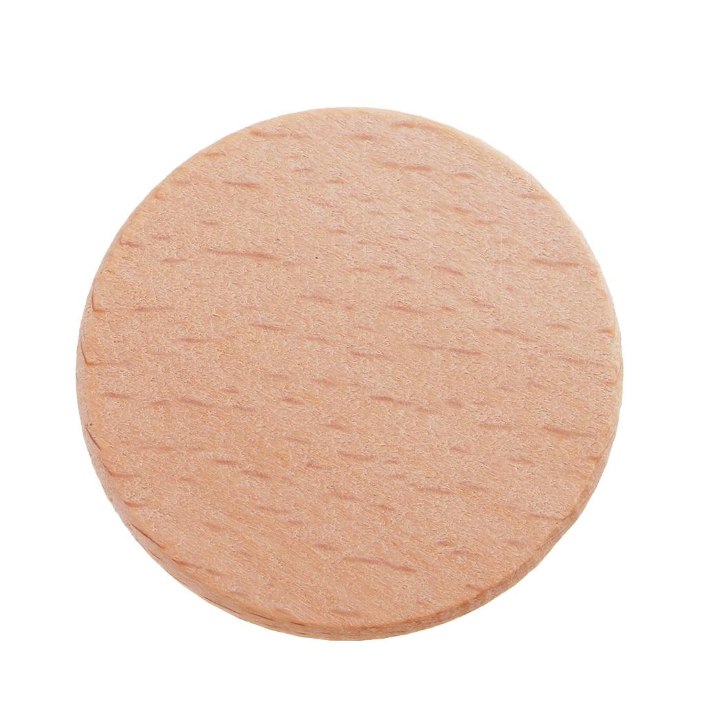 20pcs Natural Round Unfinished Wood Embellishments  for Art DIY Crafts 36mm