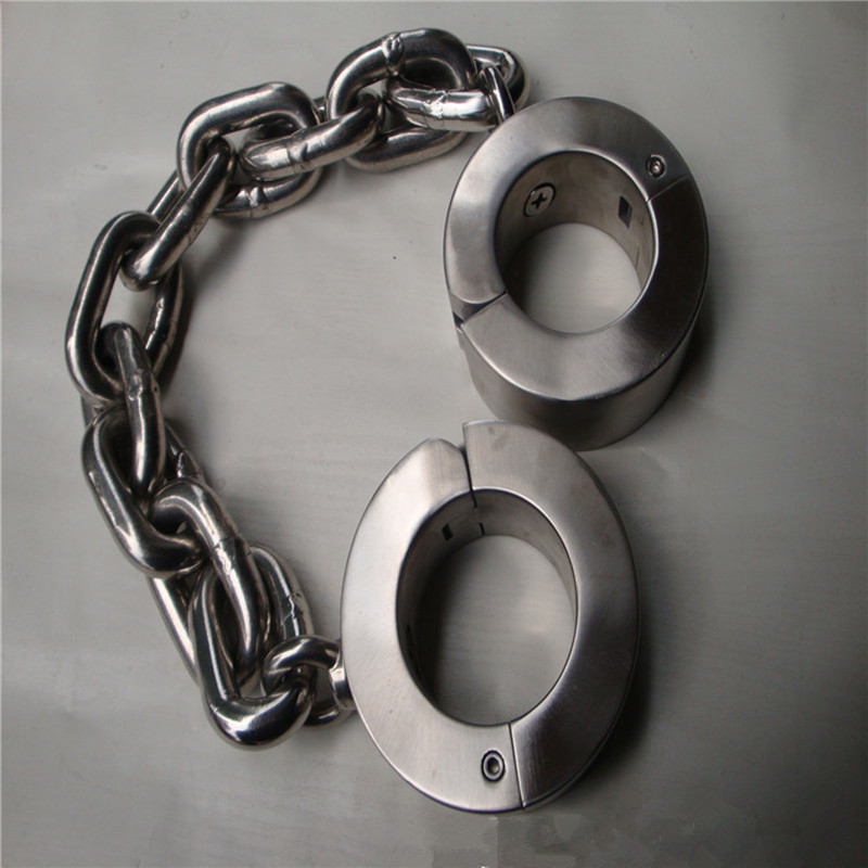 15kg Heavy stainless steel shackle chain sex bdsm bondage restraints toys the game fetish erotic adult for couples