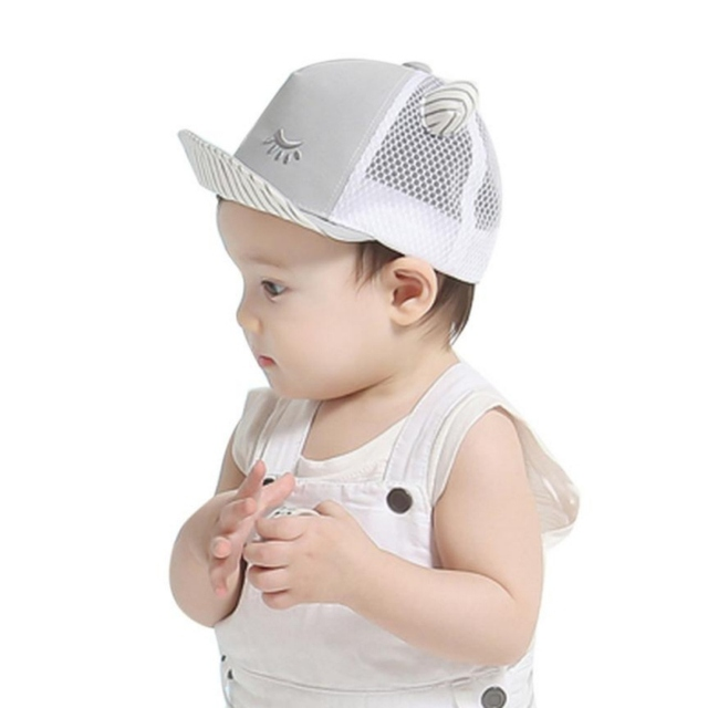 c7249eb165d Baby Caps New Girl Boys Cap Summer Hats For Boy Infant Sun Hat With Ear 2017