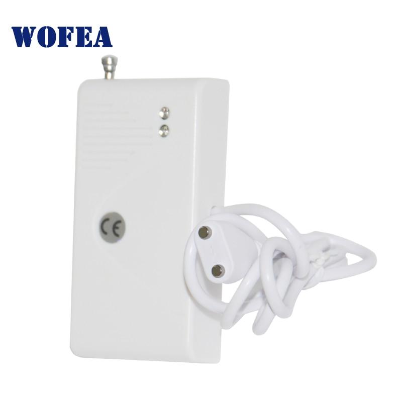 Wofea sem fio sensor de vazamento de água 433mhz detector de água tipo wifi para alarme de segurança em casa 1527 tipo