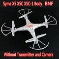 Frete grátis Original Syma X5 X5C X5C-1 BNF 4CH 6-Axis Gyro controle remoto RC Quadcopter brinquedos Dron sem câmera e transmissor
