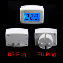 AC Panel Meter LCD blue backlight Digital Voltage meter tester Voltmeter 110/220V Switch EU/US Plug Volt Power Monitor(China)