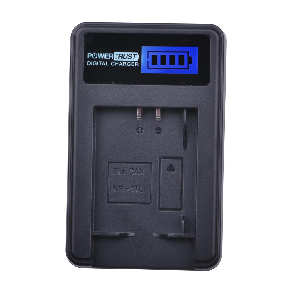NB-13L NB 13L NB13L LCD USB Batterie Chargeur pour Canon PowerShot G5X G7X G9X G7 X Mark II G9 X, SX620 SX720 SX730 HS