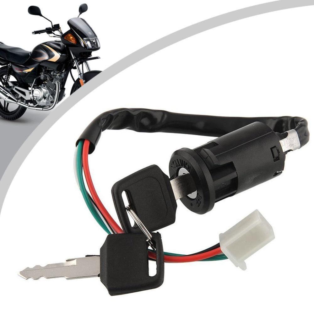 Motorbike Ignition Toggle Switch Lock 4 Wires Bike ATV Quad Go Kart ...