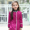 2016 New arrival Autumn Girls Trench Coat Children Girls Clothing Girls O-neck Collar Solid Color Outwear Coat for Kids Girl
